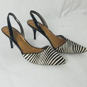 Sam Edelman Pointed Toe Fur Leather Heels